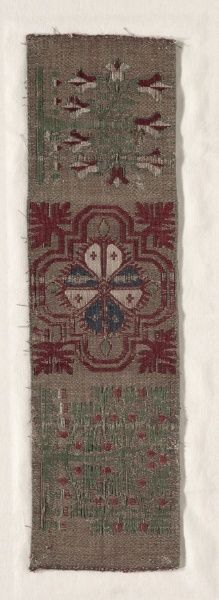 Woven Band, 1300s - 1400s  Germany, Cologne, 14th-15th century  compound twill weave, silk, Overall - h:40.70 w:11.50 cm (h:16 w:4 1/2 inches). Dudley P. Allen Fund 1918.306