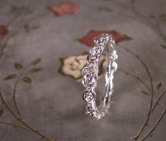Custom for Amanda  Narrow Rose Ring by ginandbutterflies on Etsy, $363.25   WOW this is beautiful! And she does custom rings! :) Great shop!