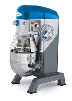 Vollrath Floor Mixer 60-qt - 40760 Floor Mixer, 60-qt,with guard, 3 speed, includes bowl truck for convenient bowl transport, #12 attachment hub accommodates meat grinder & vegetable slicer attachments (attachments sold separately), heavy duty construction, heat treated alloy steel gears & shafts, grease-packed ball bearings, bowl arm protection cover, thermal overload protection, digital timer with automatic stop and audible shutoff signal,  includes dough hook, wire whisk, spatula, mixing…