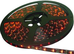 Red L.E.D Light STRIP 300 1-Chip. 5 meter Light Strip on reel. 3M adhesive on the back.