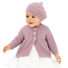 Für Gr. 62-80: 150 g Baby Classic dk in Altrosa. Für Gr. 86/92: 200 g Baby Classic dk in Altrosa. Für Gr. 98/104: 300 g Baby Classic dk in Altrosa. Für Gr...