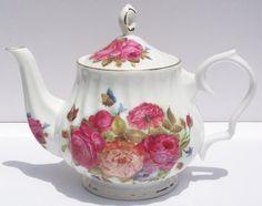 Fine Bone China 6 Cup Teapot Sandra's Rose Chintz