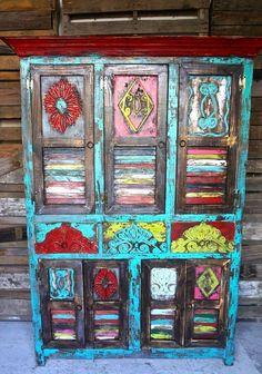 Loquita Hutch| Sofia's Rustic Furniture #rusticPatioFurnitureinteriordesign