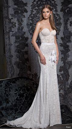 persy bridal fall 2016 strapless sweetheart trumpet mermaid wedding dress (10) mv elegant -- Persy Fall 2016 Wedding Dresses