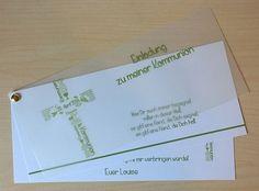 Einladungskarten   ♥ Einladungskarte Kommunion ♥   Ein Designerstück Von  Marion Designisch Bei DaWanda