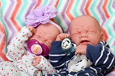 Reborn Baby Twins Boy and Girl Preemie with Beautiful Accessories Anatomically Correct Washable Berenguer inches Real Realistic Soft Vinyl Alive Lifelike Pacifier Doll Super Combo Price Twin Boys, Twin Babies, Cute Babies, Baby Twins, Reborn Baby Dolls Twins, Barbie Wedding Dress, Realistic Baby Dolls, Baby Animals Pictures, Girl Dolls