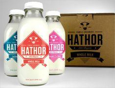 LOGO- Hathor-Creamery-dairy-milk-organic-farm-produce-logo-design-branding-identity-graphics-vintage-retro-4