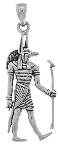 Jewelry Trends Sterling Silver Anubis Egyptian God of the Underworld Pendant