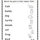 FREE!!! A simple matching activity to go along with a pet theme. Students match the pet names to the picture outlines and then color the pictures. Great fo...