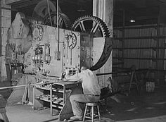 """""""This photo was taken inside the Keystone Drilling Company in Beaver Falls back in 1941."""" http://www.yourbeavercounty.com/history/"""