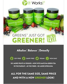💚🎉 Special Announcement 🎉💚 Greens just got GREENER! New look with the same flavor and price!  ✅ Allergen Free ✅ 2.5x as many fruits ✅ Added Spirulina & Parsley ✅ 4x the fiber ✅ 55% MORE fruits & veggies! Message Me today to get your greens!! #tonahlmillerwraps #greens #teamberry #teamorange #detox #energy #allergenfree #fruits #veggies #parsley #spirulina #fiber