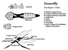 Damselfly deck plans
