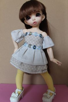 Free shipping-Dress and stockings for bjd by CrisBJDAtelier