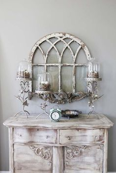 Would love a window like this...would paint it with Annie Sloan duck egg blue and hang it in my entry way :)