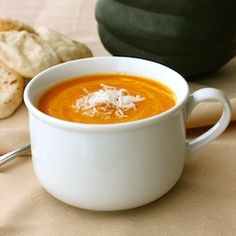 Smooth ans Silky Thai Red Curry Coconut Squash Soup