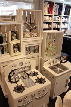 Silver Toy Kitchen Appliances from Pottery Barn. I bought the hand ...