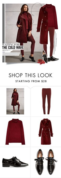 """Beautiful in Burgundy"" by yoo-q ❤ liked on Polyvore featuring Dorothy Perkins, Alice + Olivia, A.P.C., burgundy, contestentry and falltrend"