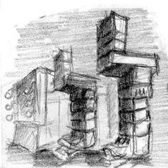 """DIBUJO: Lápiz - """"Ruinas"""""""