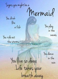 Are you a Mermaid? Mermaid Sign, Mermaid Quotes, Mermaid Tale, Mermaid Mermaid, Mermaid Beach, Unicorns And Mermaids, Real Mermaids, Mermaids And Mermen, Ocean Quotes
