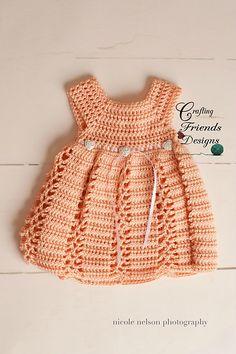 Ravelry: Ribbon  Lace Infant Dress pattern by Kate Wagstaff