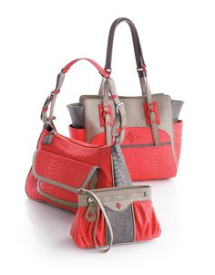 Three ways to carry coral. #handbags Simply Vera Vera Wang #Kohls