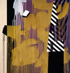 Charline Von Heyl - It's Vot's Behind Me That I Am (Krazy Kat)  2010  Acrylic, oil on linen and canvas  82 x 72 inches