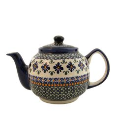 Blue Flowers Teapot