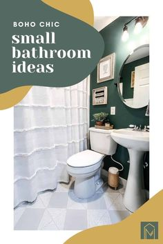 If your planning a bathroom renovation, get ready to be inspired with this budget friendly boho bathroom makeover full of boho chic style! You'll be surprised with the before and after photos. #boho #budgetfriendly #bohochic #bathroom Diy Bathroom Reno, Easy Bathroom Updates, Cheap Bathroom Remodel, Boho Bathroom, Budget Bathroom, Bathroom Renovations, Bathroom Interior, Small Bathroom, Bathroom Ideas