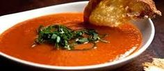 Creamy Tomato and Roasted Pepper Soup Recipe : Patrick and Gina Neely : Food Network