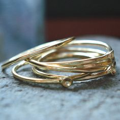 blue poppy handcrafted jewelry — 14K Gold Muse Rings