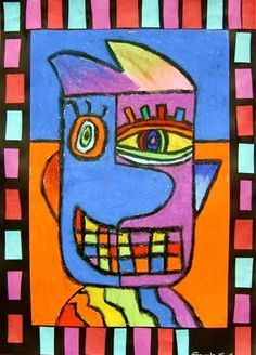 Check out student artwork posted to Artsonia from the Picasso-Style Portraits project gallery at Whitney Elementary School. Pablo Picasso, Art Picasso, Picasso Style, Picasso Kids, Portraits Cubistes, Picasso Portraits, Art Espagnole, Pop Art, Classe D'art