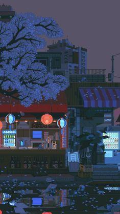 waneella is creating pixel art waneella schafft pixelkunst Live Wallpapers, Animes Wallpapers, Aesthetic Backgrounds, Aesthetic Wallpapers, Aesthetic Art, Aesthetic Anime, Image Pixel Art, Pixel Art Background, Arte 8 Bits