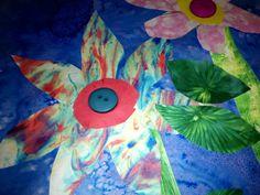 Bubble Painting Flower Lesson - Experimental Painting Techniques