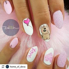 #Repost @home_of_deva with @instatoolsapp Sweet manis that would melt the hardest of hearts Which one would you rock? #Swipe #FlashbackFriday #FBF #ValentinesNails #ValentinesDay #Love #Heart #LoveIsInTheAir #AllYouNeedIsLove #NaturalNails #BabyPink #GirlyPink #Monster #Bear #Ladybug #Sweet #Cute #Handpainted #UglyDucklingNails #HomeOfDeva #2017