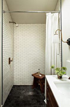 Lauren Liess minimal rustic bathroom