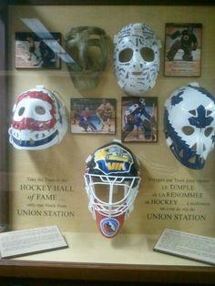 Hockey goalie masks and their history - love it!