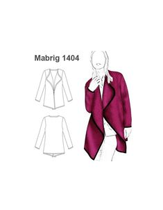 MOLDE: ABRIGO TAPADO MUJER 1404 Tapas, Molde, Drawing Software, Wraps, Make Up, Patterns, Dressmaking, Women