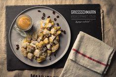 Vegan Grießschmarrn // Ginger and Mint The Thing Is, Vegan Sweets, Cousins, Oatmeal, Vegan Recipes, Mint, Treats, Dinner, Breakfast