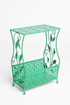 Green, yellow, turquoise or black flourish side table by Urban Outfitters