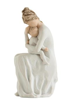 For Always. Mother with Child Figurine. Part of the Willow Tree collection by Susan Lordi. Approximately 6.5 inches tall.  Now and for always I carry you in my heart.  Arrives in a gift box ready for gift giving with an enclosure card. For Always by Willow Tree by Demdaco . Home & Gifts - Home Decor - Decorative Objects New York City