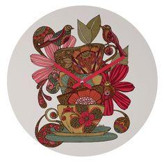 Valentina Ramos Good Morning Birds Round Clock | DENY Designs Home Accessories