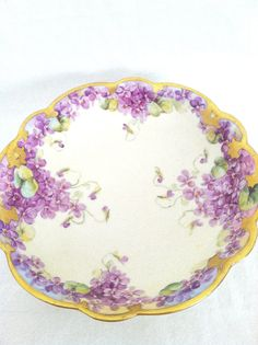 Antique Limoges France HandPainted Bowl Circa by MariasFarmhouse, $28.00