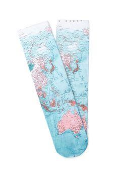 Map Print Socks | FOREVER21 - 2000136552