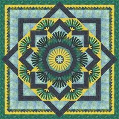 Check out this original color-way designed by Michele R. Sign up on www.quiltster.com to create your own.