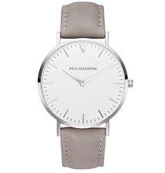 Paul Valentine Armbanduhr   Marina Silber Grau   Damen Uhr mit elegantem