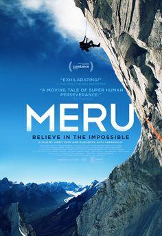 «Meru» est un documentaire sorti en 2015 qui raconte l'incroyable épopée des alpinistes américains Conrad Anker, Jimmy Chin et Renan Ozturk sur la vertigineuse et jusqu'alors inaccessible paroi, dite du «Shark's Fin» (aileron de requin) sur le Mont Meru (6310 mètres), sommet Himalayen situé dans le Garhwal dans le nord de l'Inde. Du lourd… du très, très lourd…
