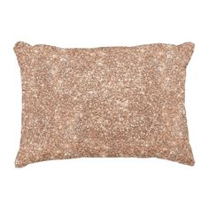 Rose Gold Glitter Decorative Pillow