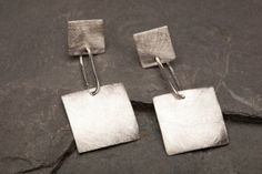 Sterling Silver Jewelry  Brushed double square by AlmaValleJewelry, $37.99
