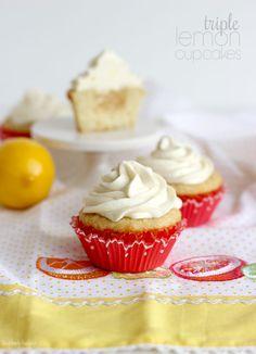 Triple Lemon Cupcakes | The Blonde Buckeye
