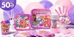 Pink PAW Patrol Party Supplies - PAW Patrol Party - Party City